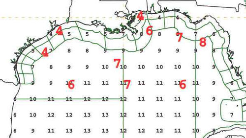 Figure 5 - Significant wave heights from NOAA Wave Watch 3 - Click to enlarge