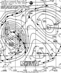 Figure 4 - North Pacific Surface Analysis Chart - click to enlarge