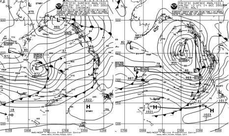 Figure 6 - North Pacific Surface Analysis Chart