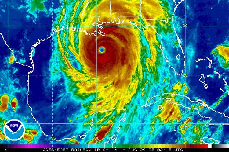 'Top 10 Worst Hurricanes': Television review - NY Daily News  Hurricane Katrina Satellite Thermal