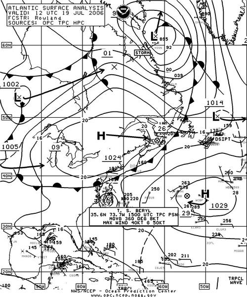 Figure 3. OPC North Atlantic Surface Analysis chart (Part 2) valid ...