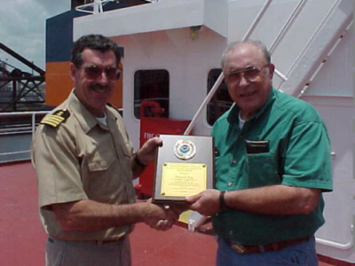 Houston PMO Jim Nelson and Captain J.P. Brennen