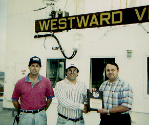 Mike Richie, Captain Don Charland, Pat Brandow